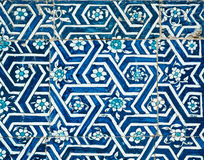 Tiled background with oriental ornaments Stock Image