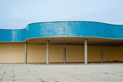 Tiled bathing resort structure on coastal promenade Royalty Free Stock Image