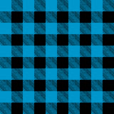 Tiled Blue and Black Flannel Pattern Illustration Royalty Free Stock Image