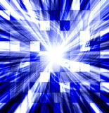 Tiled blue twisted blast Royalty Free Stock Image