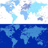 Tiled Blue World Map Stock Photos