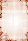 Tiled brown & beige background Royalty Free Stock Photos