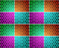 Tiled bubble blob background - multicolour Stock Image