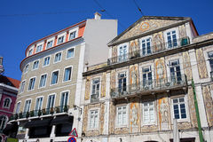 Tiled Building in Chiado District of Lisbon Stock Image