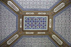 Tiled ceiling in Topkapi Palace Stock Photography