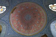 Tiled ceiling,Topkapi Palace, Istanbul, Turkey Royalty Free Stock Image