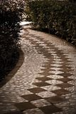 A tiled cobblestone path Royalty Free Stock Photo