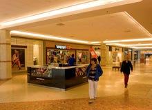 A tiled corridor in a shopping mall Royalty Free Stock Photos