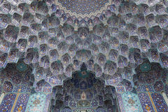 Tiled decoration, isfahan, iran Stock Images