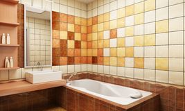 Tiled design of the bathroom Royalty Free Stock Images