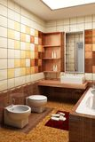 Tiled design of the bathroom Stock Images