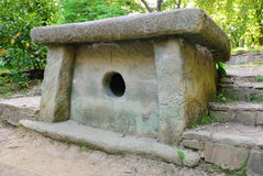 Tiled dolmen in Sochi. Russia Royalty Free Stock Images
