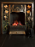Tiled fireplace Royalty Free Stock Images