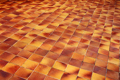 Tiled floor. Floor covered with ceramic tiles Royalty Free Stock Images