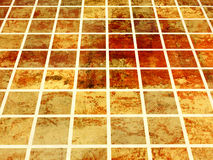 Tiled floor. Ceramic floor tiles - 3d render stock illustration