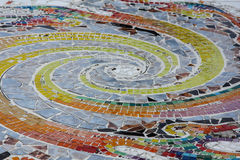 tiled floor colorful Stock Photography