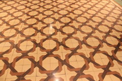 Tiled floor decorated Stock Photo