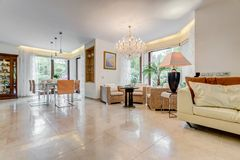 Tiled floor in exclusive interior royalty free stock images