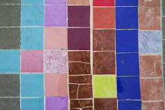 Tiled floor. Free pattern Stock Photography