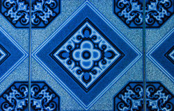 Tiled floor.  Royalty Free Stock Images