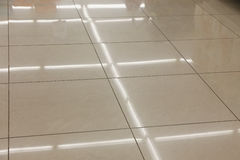 Tiled floor in a public place Royalty Free Stock Photos