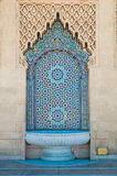 Tiled fountain. Typical moroccan tiled fountain Stock Images