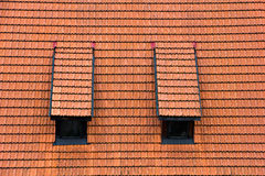 Tiled garret roof. Stock Photo