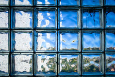 Tiled glass wall Royalty Free Stock Images