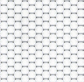 Tiled graphene sheet model Stock Images