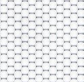 Tiled graphene sheet model Stock Images