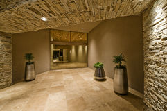 Tiled Hallway In Modern house Stock Images