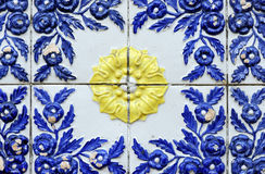 Tiled in high relief of old house and warehouse Stock Image