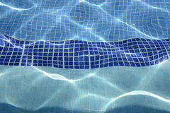Tiled inground pool Royalty Free Stock Image