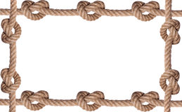 Tiled knot rope frame Stock Images