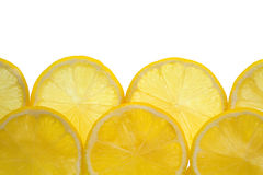 Tiled lemons background Royalty Free Stock Image