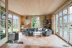 Tiled living room Stock Image