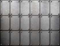 Tiled metal background Royalty Free Stock Images