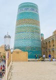 The tiled minaret Stock Photography