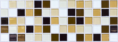 Tiled mosaic. Beutifull tiled mosaic wall for background Stock Images