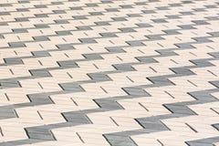 Tiled mosaic concrete pavement Royalty Free Stock Photo