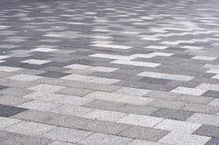 Tiled mosaic concrete pavement Stock Photos