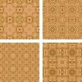 Tiled mosaic floor design set. Light brown tiled mosaic floor design set Royalty Free Stock Images