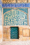 Tiled oriental Ateegh Jame mosque's wall Royalty Free Stock Photography