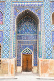 Tiled oriental Ateegh Jame mosque's wall Stock Photos