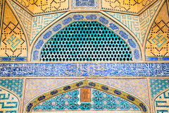 Tiled oriental Jame mosque's wall , Esfahan, Iran Stock Photos