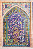 Tiled  oriental ornaments , Kashan, Iran Stock Images