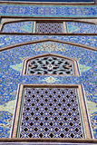 Tiled ornaments mosque's wall , Esfahan Stock Images