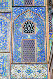 Tiled ornaments mosque's wall ,Iran Royalty Free Stock Image