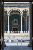 Tiled passage in the Sultan Ahmed Mosque, Istanbul, Turkey, Asia royalty free stock photo