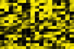 Tiled pattern. Illustration of a yellow and black tiled background Royalty Free Stock Image